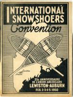 International Snowshoe Convention program, Lewiston-Auburn, 1950