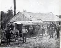 Fiske Sawmill, Blue Hill village, ca. 1900