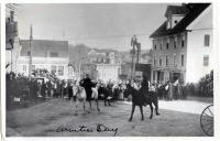 Burning the Kaiser,  Armistice Day, Guilford, 1918