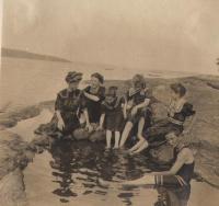 Children Swimming at the Bathing Beach - 1907