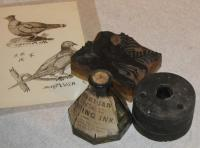 Inkwell,  Ink Bottle, Wood Cut Block, Blue Hill, ca. 1800