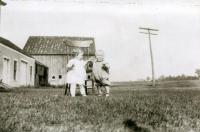 Toddlers at Crockett's Corner, North Yarmouth, ca. 1920