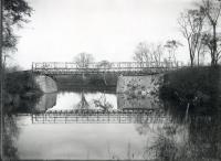 Temporary Bridge over the Royal River, North Yarmouth, 1955