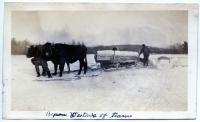 Ice harvesting, Cascade Pond, Hallowell, ca. 1930