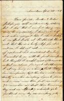 John French letter on enlistment, 1861