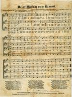 'We are Marching on to Richmond' music, ca. 1862