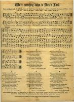 Civil War sheet music, ca. 1861