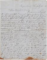 John French letter to his family,  July 1861