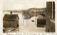 Flood, Joppa viewed from Cotton Mill, Hallowell, 1936