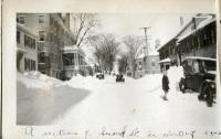 Row House, Looking north on Second Street, Hallowell, ca, 1935