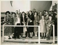 'Mary Anne' christening, Thomaston, 1947