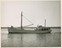Sardine carrier Mary Anne afloat, Thomaston, 1947
