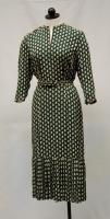 Green print dress, Bangor, ca. 1949