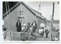 Steam and Boom Company, Log Driver's Shack, Hallowell, ca.1890