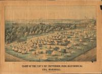 7th Maine Regiment encampment, Baltimore, 1861