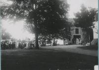 Attendees of a Saco lawn party, 1912