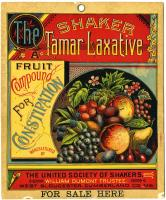 Tamar Laxative advertising poster, Sabbathday Lake, ca. 1890