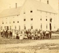 Granite Workers, Hallowell Granite Works, Hallowell, ca. 1880