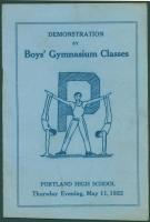 Portland High School gym demonstration program, 1922
