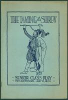 'Taming of the Shrew' program, Portland, 1924