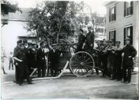 Handtub fire engine, Saco, ca. 1910