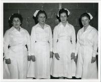 Maine School of Practical Nursing class officers, Waterville, 1960