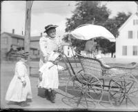 Baby Carriage with Family, Bangor, ca. 1895
