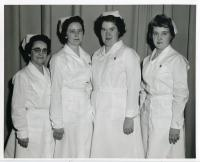 Maine School of Practical Nursing class officers, Waterville, 1959