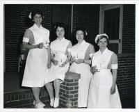 Maine School of Practical Nursing class officers, Waterville, 1962