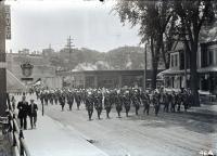 Knights Templar on Main Street, Biddeford, 1912