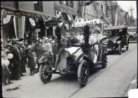 Decorated Automobiles in Biddeford's Tercentenary Parade, September 16, 1916