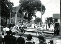 Saco Grange parade float, Biddeford, 1916