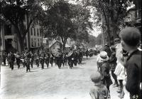Masons marching with Painchaud's Band, Biddeford, ca. 1915