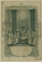 First Communion Souvenir, St. John's Church, Bangor, 1859