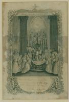 First Communion Souvenir, St. John's Church, Bangor, 1859