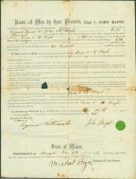 John Bapst transfer of cemetery lot ownership, Bangor, 1856