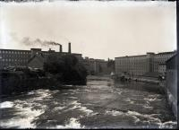 Biddeford and Saco mills and river from the Main Street Bridge, 1912