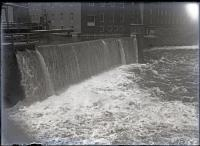 Power canal spillway of the Laconia (Pepperell) Mills, Biddeford, 1912