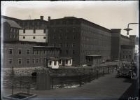 Smith Street bridge and mill buildings, Biddeford, 1912
