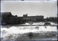Saco Falls, mill dams and mills, Biddeford, 1912