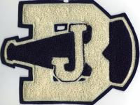 John Bapst High School Megaphone patch, Bangor, ca. 1970