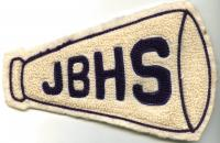 John Bapst High School Megaphone patch, Bangor, ca. 1960