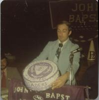 John Bapst High School Football Class C State Championship cake, Bangor, 1976