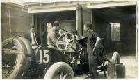 Preparing for the Thurlow Hill Climb Auto Race, Poland Spring, 1911
