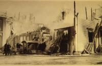 Court House fire, Alfred, 1933