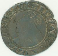 Queen Elizabeth I silver coin, ca. 1558