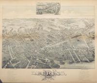 Bird's-eye view of Deering, 1886