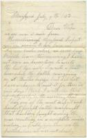 Marshall Phillips letter from Boonsboro, Maryland, 1863