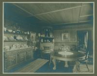 'Belfield' dining room, Cape Elizabeth, ca. 1890