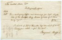 Receipt for Capt. Blyth coffin, 1813
